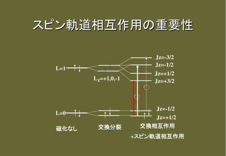 スピン軌道相互作用の重要性