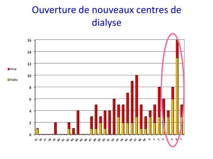Ouverture de nouveaux centres de dialyse