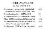 dsme assessment 0 100 scoring or