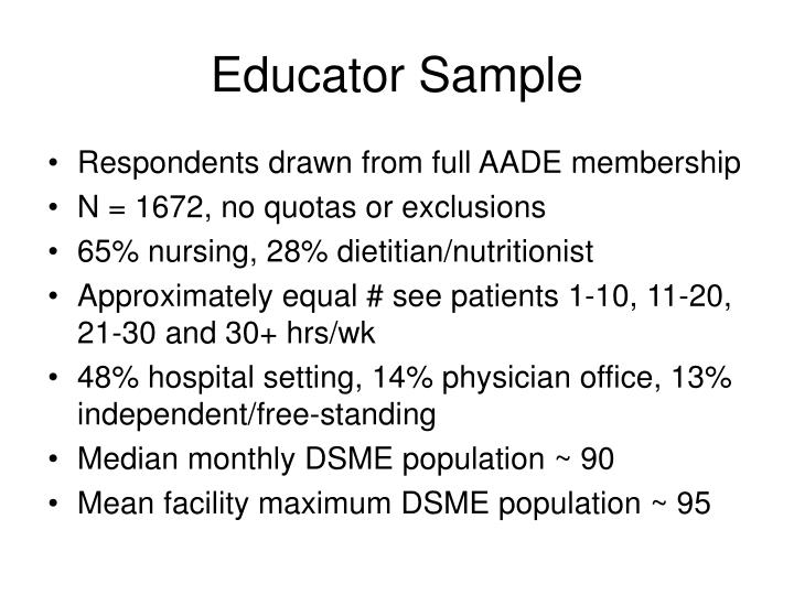 Educator Sample