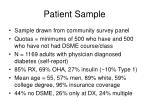 patient sample