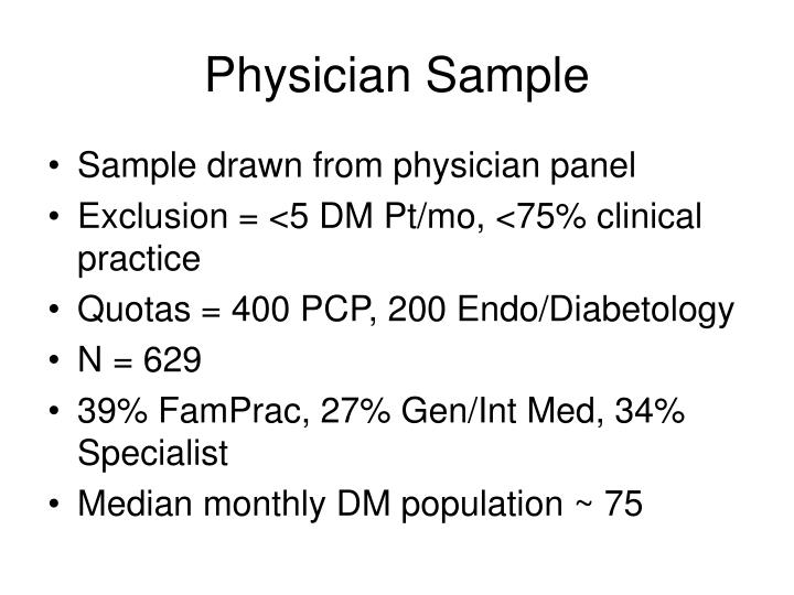 Physician Sample