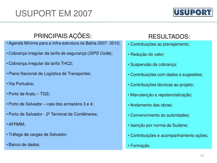 USUPORT EM 2007