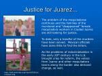 justice for juarez