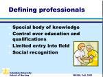 defining professionals