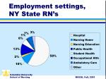 employment settings ny state rn s