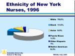 ethnicity of new york nurses 1996