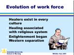 evolution of work force