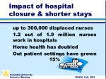 impact of hospital closure shorter stays