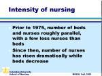 intensity of nursing