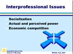 interprofessional issues