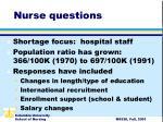 nurse questions
