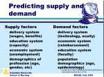 predicting supply and demand