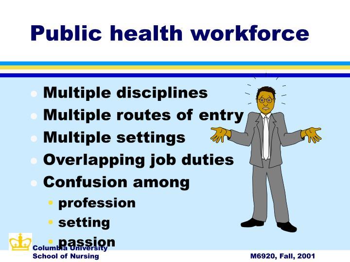 Public health workforce