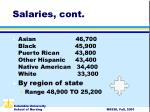 salaries cont