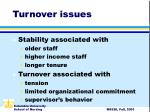 turnover issues