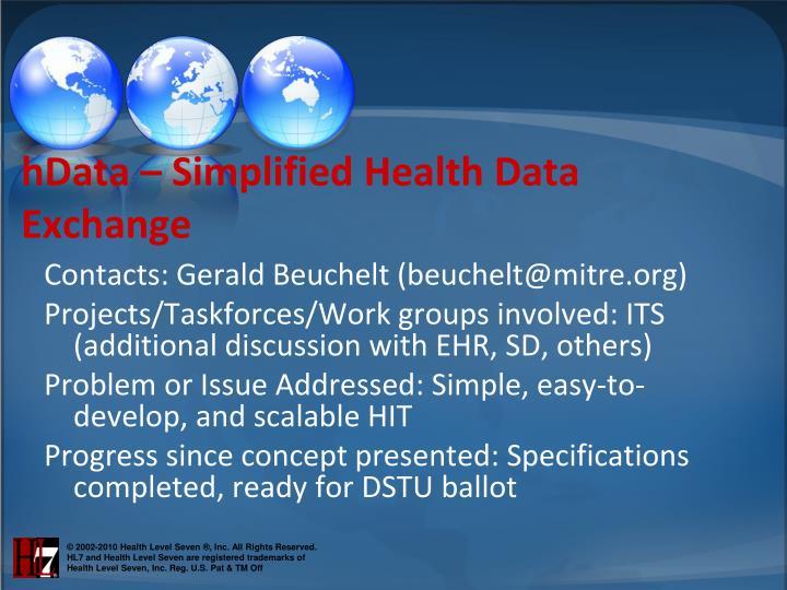 hData – Simplified Health Data Exchange