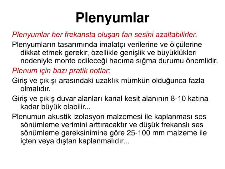 Plenyumlar