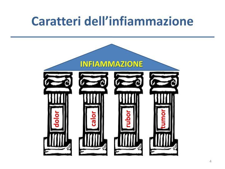 Caratteri dell'infiammazione