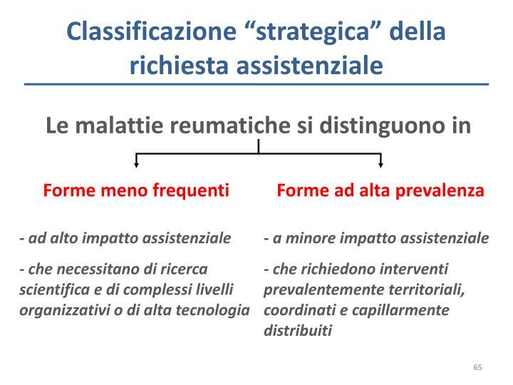 """Classificazione """"strategica"""" della richiesta assistenziale"""