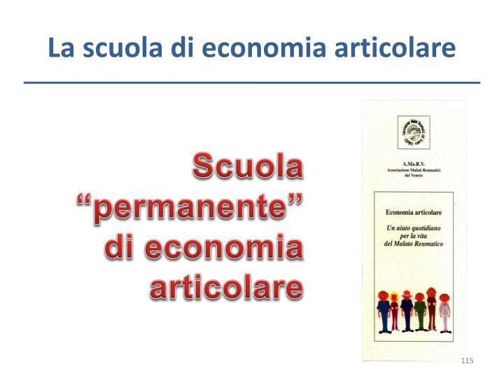 La scuola di economia articolare