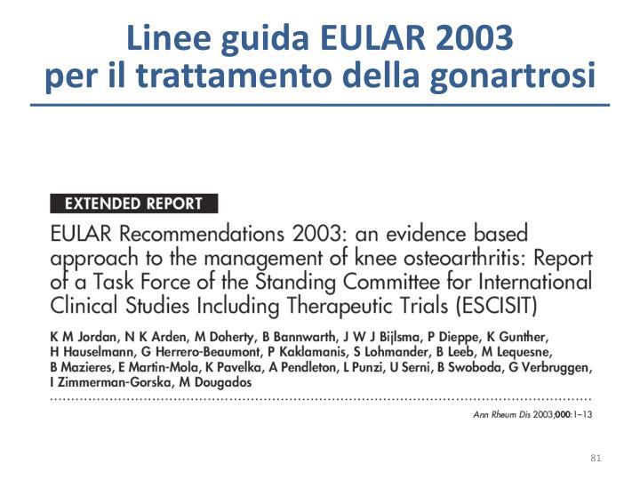 Linee guida EULAR 2003