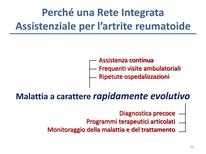 Perché una Rete Integrata Assistenziale per l'artrite reumatoide