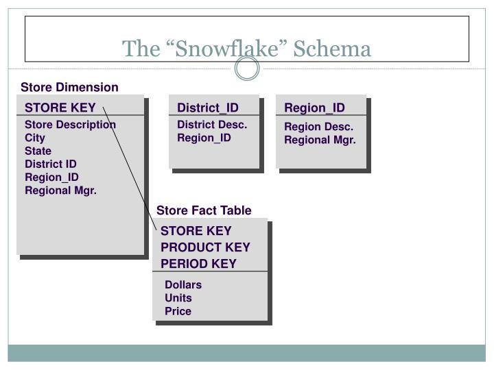 "The ""Snowflake"" Schema"