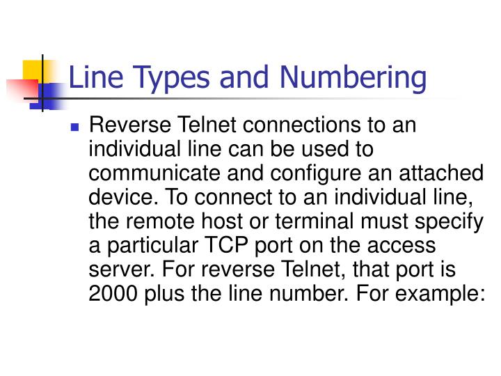 Line Types and Numbering