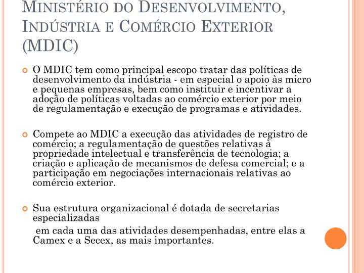 Ministério do Desenvolvimento, Indústria e Comércio Exterior (MDIC)