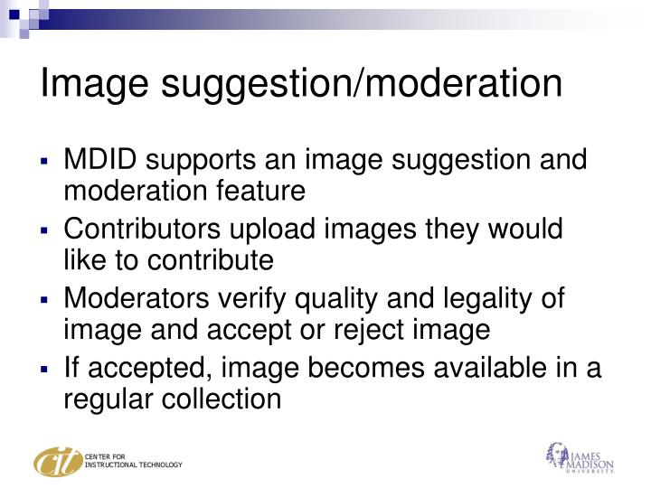 Image suggestion moderation