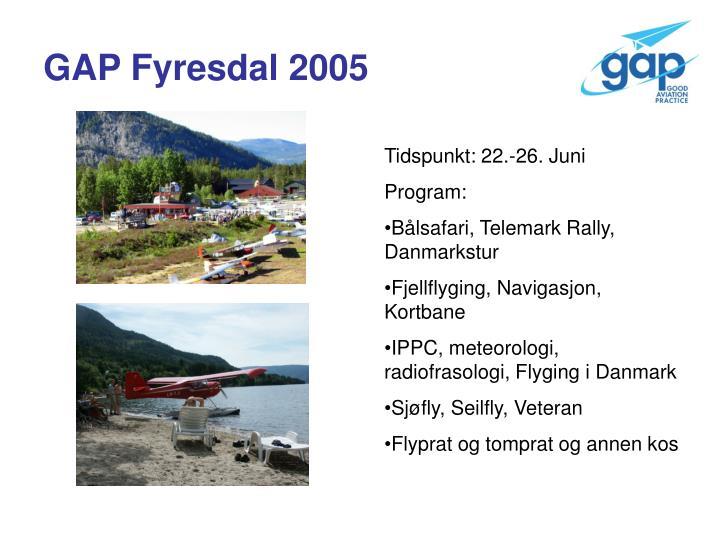 GAP Fyresdal 2005