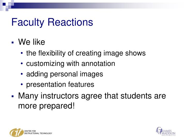 Faculty Reactions