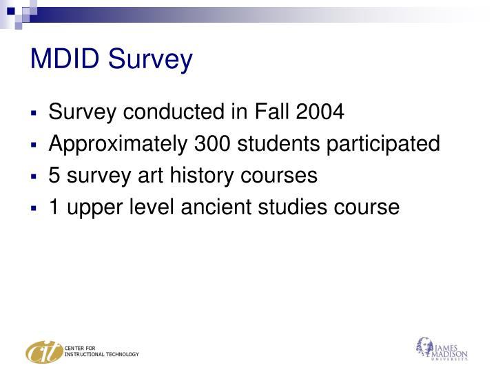 MDID Survey