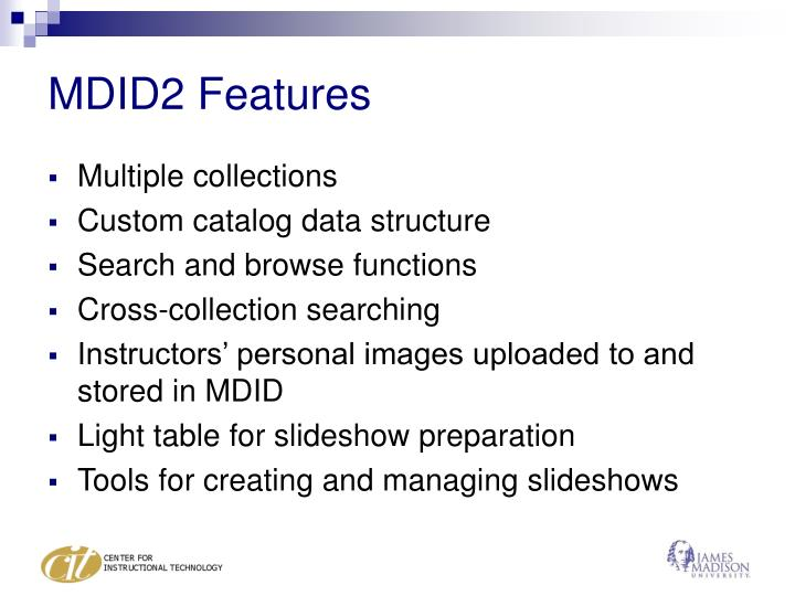 MDID2 Features