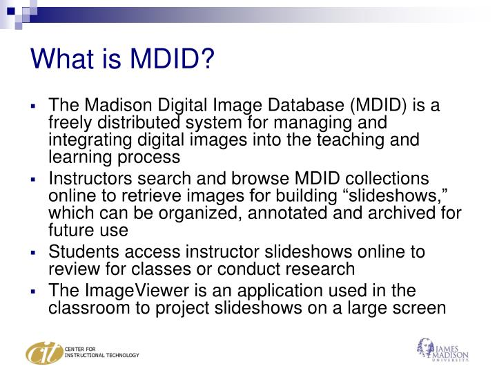 What is MDID?