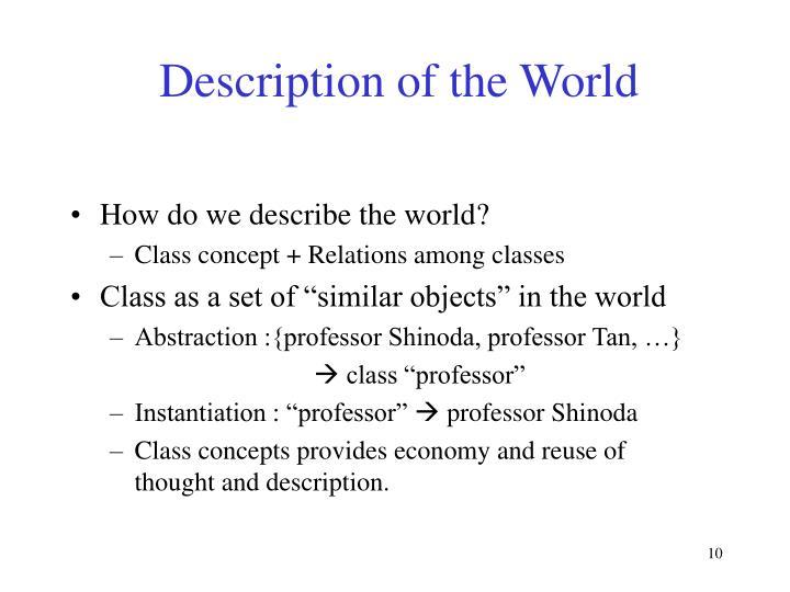 Description of the World
