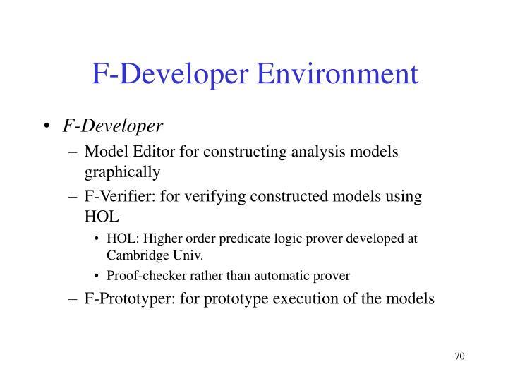 F-Developer Environment