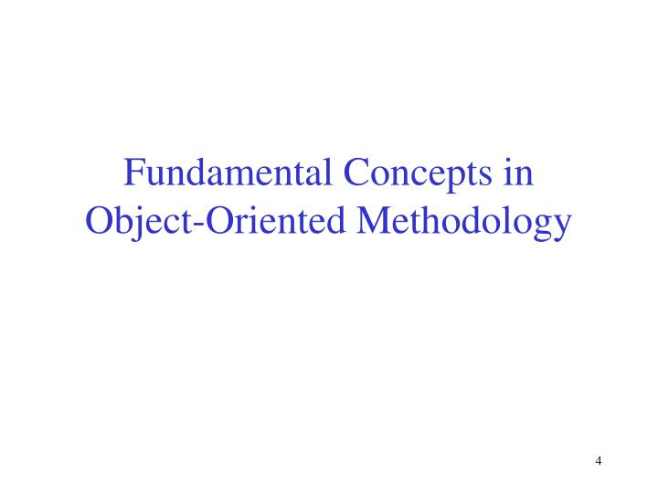 Fundamental Concepts in