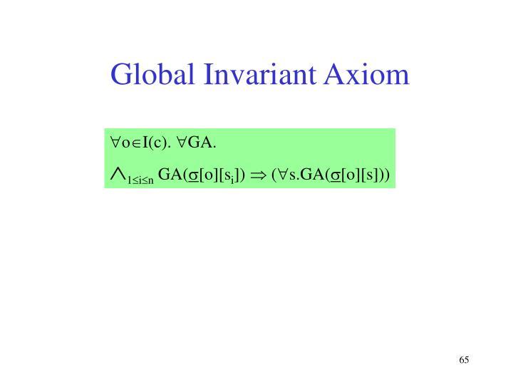 Global Invariant Axiom