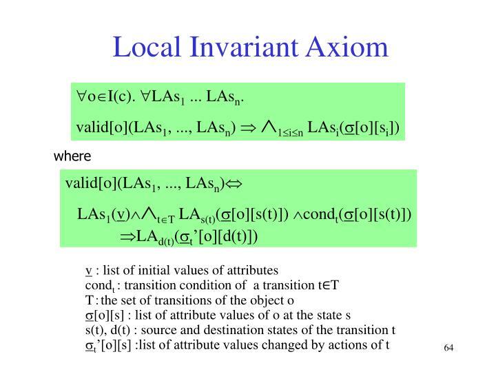 Local Invariant Axiom