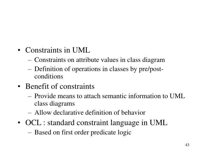 Constraints in UML