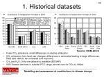 1 historical datasets