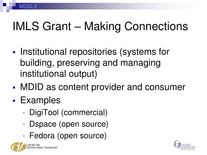 IMLS Grant – Making Connections