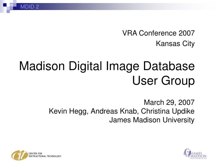 March 29 2007 kevin hegg andreas knab christina updike james madison university