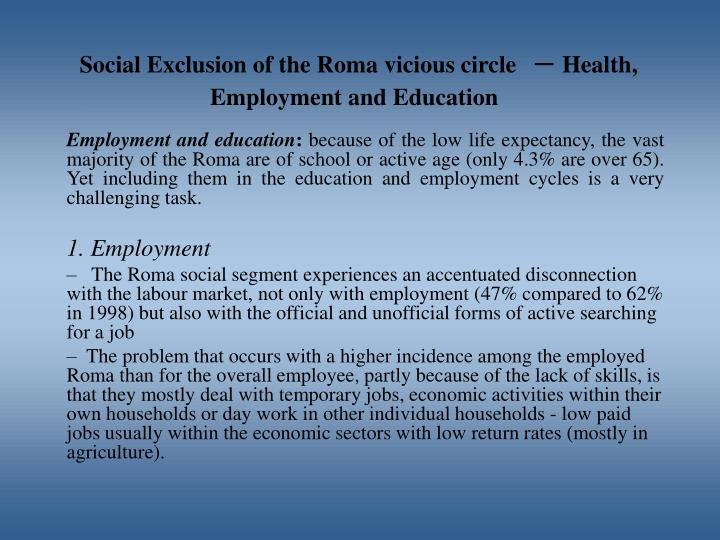 Social Exclusion of the Roma vicious circle