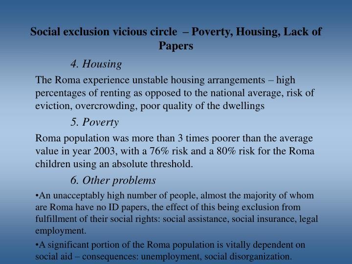Social exclusion vicious circle
