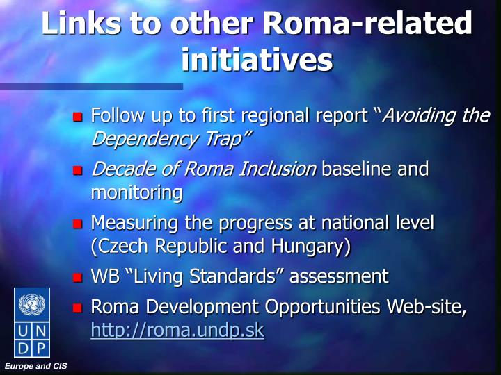 Links to other Roma-related initiatives