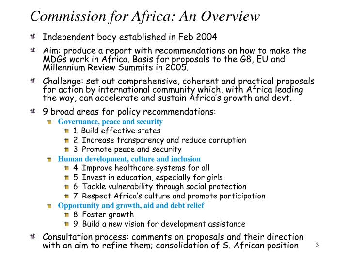Commission for Africa: An Overview