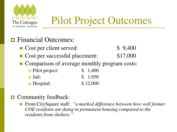 Pilot Project Outcomes